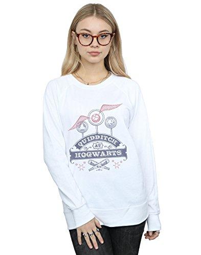 Harry Potter Damen Quidditch at Hogwarts Sweatshirt Weiß Medium
