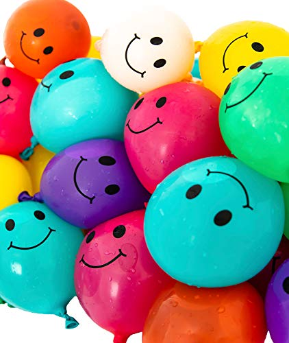 Peachy Party Smile Water Balloons - Pack of 50 multicolor emoji...