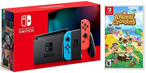 Nintendo Switch w/ Red & Blue Joy-Con + Animal Crossing (New Horizons)...
