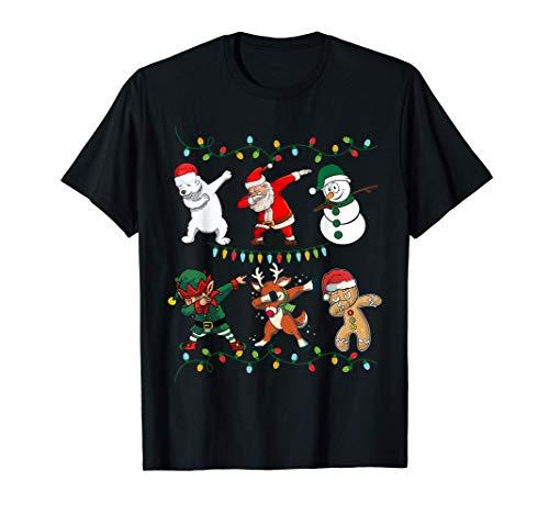 Dabbing Weihnachtsmann Santa Elf Christmas Weihnachten Deko T-Shirt
