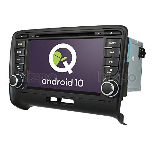 Android 10 Autoradio Navigazione GPS Adatto per Audi TT 2006-2013 Supporta Bluetooth Lettore DVD Vivavoce RDS Controllo del Volante USB Wallpaper EQ TV Analogica Una scheda SD Gratuita