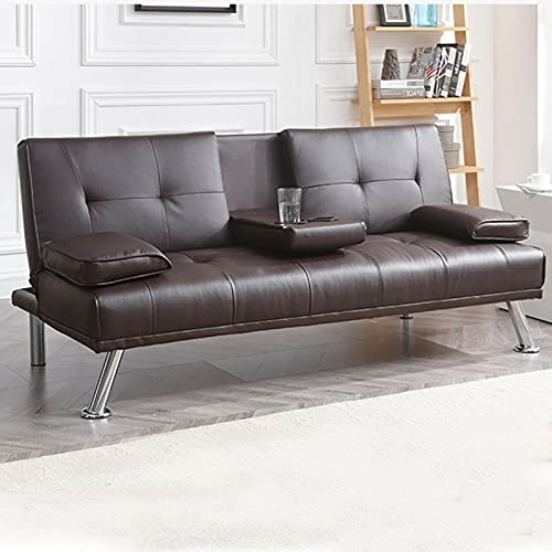 Dhouse 3 Seat Sofa With Cup Holder Modern Fashion Design Are Soft Comfortable And Easy To Clean Used In Living Room Office Study Or Other Rooms Home Sofa Luxury Cushion Brown