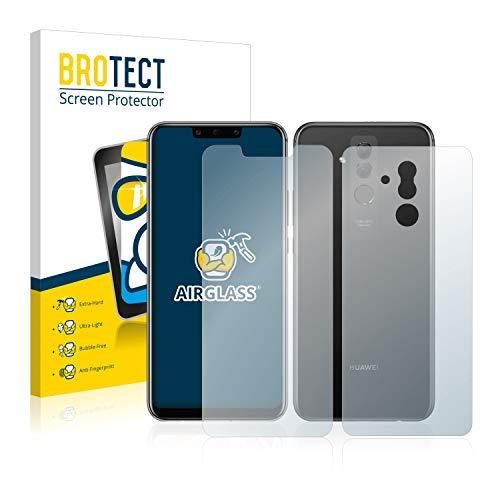BROTECT Panzerglas Schutzfolie kompatibel mit Huawei Mate 20 lite (Vorder + Rückseite) - AirGlass, extrem Kratzfest, Anti-Fingerprint
