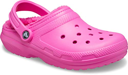 Crocs Classic Lined Clog, Zuecos Unisex Adulto, Electric Rosa/Electric Rosa, 42/43