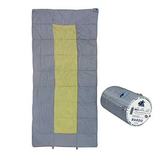 10T Bardo Schlafsack XXL 200x100 cm Deckenschlafsack Grau Grün -13° warm wasserabweisend waschbar