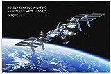 YWCMDH Laminas para Cuadros Estación Espacial satélite Lienzo Pared Arte Cuadros impresión Decoracion Moderna Carteles60x90cm x1 Sin Marco