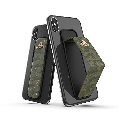 adidas Sports Compatible con iPhone XS MAX, Samsung Galaxy S10+, Mango Adherible - Verde Camuflado
