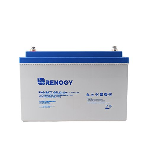 12V 100Ah Rechargeable Deep Cycle Battery by Renogy