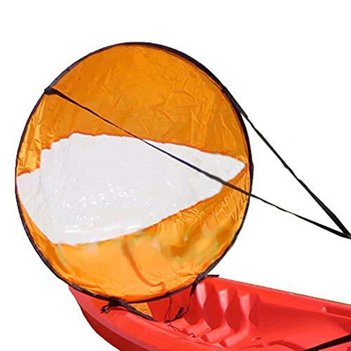 "Shueriu Kayak Wind Sail Paddle 42"" Rowing Boats Wind Fold Up Sail Canoe Instant Sail for Inflatable Boats Kayaks Canoes - Orange"