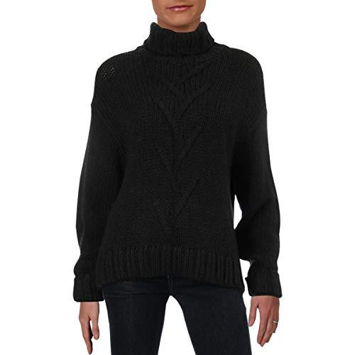 Noisy May Womens Kira Turtleneck Pullover Sweater Black S