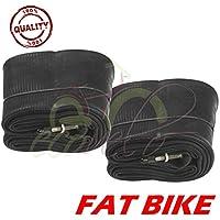 Union - Par de 2 cámaras de aire 26 x 4.0 para Fat Bike con válvula Presta 48 mm rueda neumáticos bicicleta MTB