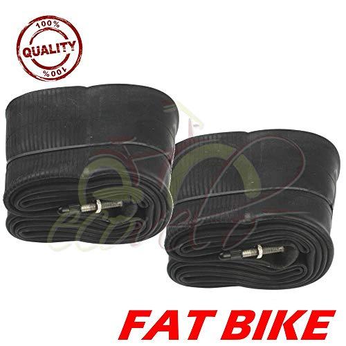Union ECA26FYD - Juego de 2 cámaras de aire de 26 x 4.0 para Fat Bike con válvula Presta de 48 mm para neumáticos de bicicleta MTB