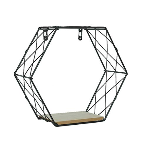 LIOOBO Estantes Flotantes Metal Hexagonal Geométrico
