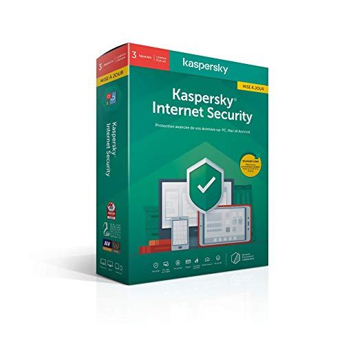 Kaspersky Internet Security 2021 Mise à jour (3 Postes / 1 An)