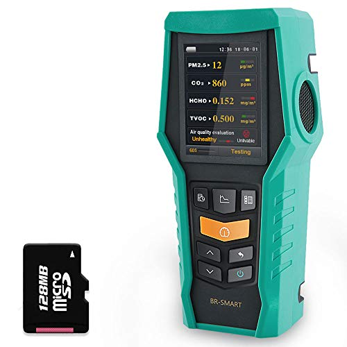 BLATN Smart 128s Air Quality Monitor Indoor CO2 PM2.5 TVOC Meter Formaldehyde HCHO Detector VOCs Pollution AQI Tester PM1.0 PM10 Dust Particle Counter Data Logger Home