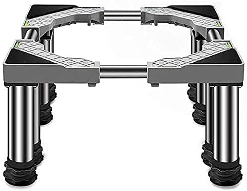 TabloKanvas Soporte de la Base de la Lavadora con 8 Patas High Rack Anti Vibration Mute Ajustable Soporte de refrigerador Rack (Color : 11.4-12.6in 8legs)