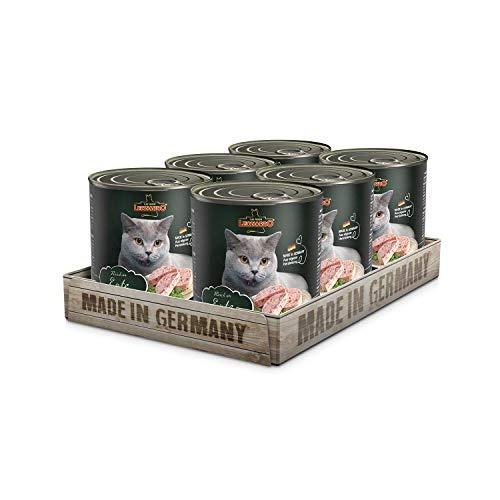Leonardo Nassfutter [6x800g Ente] | Getreidefreies Nassfutter für Katzen | Feuchtfutter Alleinfutter aus der Dose