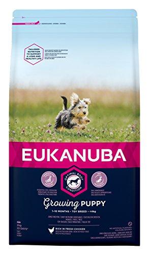 EUKANUBA Cachorro de Raza Miniatura en Crecimiento rico en pollo fresco [2 kg]