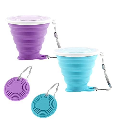 Copa de silicona plegable de 270 ml, sin BPA unidades de vasos...