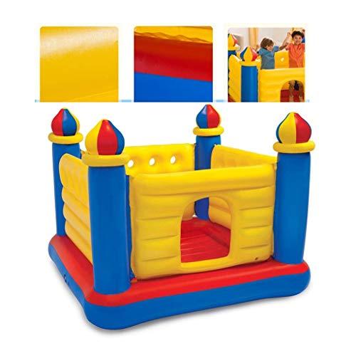 Kinder Schlauchboote HüpfburgenTrampolin Trampolin Für Kinder Familie Zusammenklappbar Aufblasbares Schloss Indoor Hüpfbett Spielzeug Leicht zu reinigen zu Hause