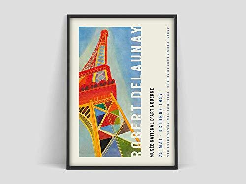 Póster de Robert Delaunay exhibitoin, pintura de Delaunay Paris, cartel de Paris, lienzo decorativo sin marco familiar pintura Z 50x75cm