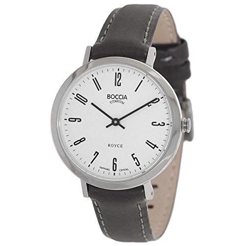 Boccia Damen Analog Quarz Uhr mit Leder Armband 3246-03
