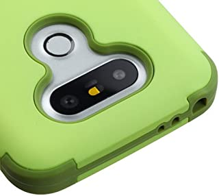 LG G5 Case, Kaleidio [TUFF] Shockproof Hybrid Dual Layer Protective Heavy Duty Armor Resilient Cover [Includes a Overbrawn Prying Tool] [Green Tea/Olive Green]