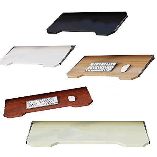 LKP Bandeja para Mouse Teclado Sotto Scrivania Cajón De Plataforma Ergonómica Soporte Teclado Extraíble Negro/Blanco/Nogal Claro/Teca/Color Arce