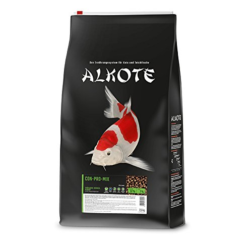 AL-KO-TE, 3-Jahreszeitenfutter für kleine Kois, Frühjahr bis Herbst, Schwimmende Pellets, 6 mm, Hauptfutter Conpro Mix, 7,5 kg