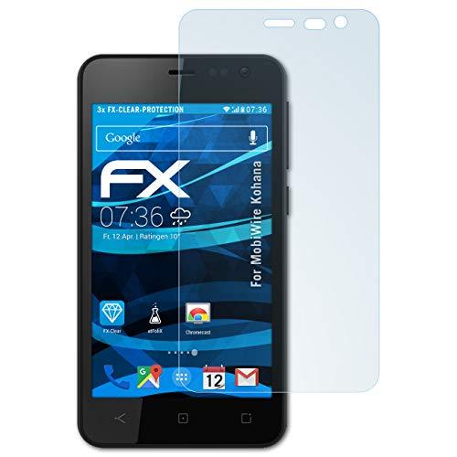 atFolix Schutzfolie kompatibel mit MobiWire Kohana Folie, ultraklare FX Bildschirmschutzfolie (3X)