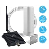 Cell Phone Signal Booster for Home and Office - Dual Band 700MHz Cellular Repeater for AT&T, Verizon and T-Mobile 4G LTE - Enhance Your Indoor Voice and Data (Band 12/17/13)