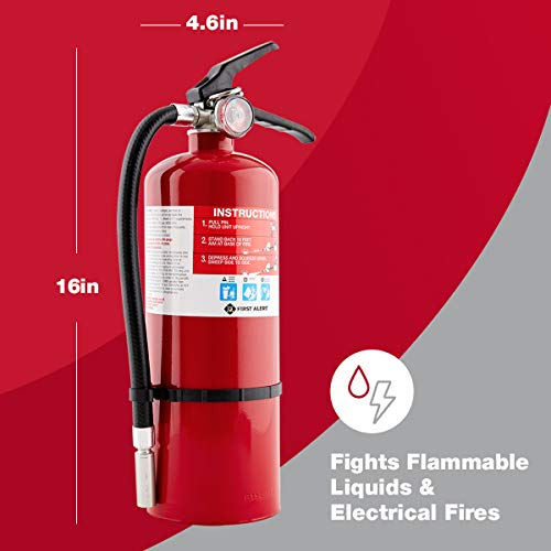 FIRST ALERT Fire Extinguisher, Large Home Fire Extinguisher, Red, FE2A10GR
