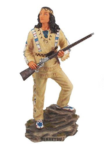 Unbekannt Winnetou Steht auf Felsen Figur Original Karl- May Lizenzprodukt