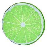 LinZX Fruit 3D de la Felpa del Amortiguador del sofá Almohada Cojines de la Hija de la Fiesta Infantil de cumpleaños,Light Green