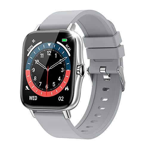 スマートウォッチ 最新版 Bluetooth5.2通話 1.7インチタッチスクリーン 腕時計 天気予報 生活防水 運動記録 SMS通知 着信電話通知 音楽コントロール 長座注意 ストップウォッチ 長時間バッテリー 日本語取扱説明書 iphone/Andro