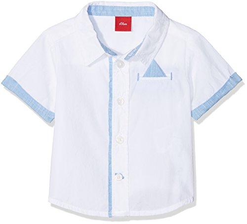 s.Oliver s.Oliver Baby-Jungen 59.805.22.6409 Hemd, Weiß (White 0100), 74