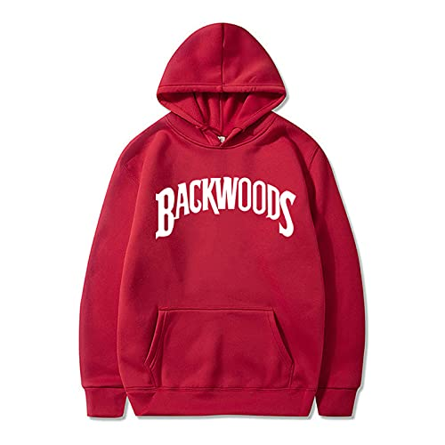 1Sconto Sudaderas con Capucha De Backwoods De Peso Pesado para Hombres Y Mujeres De La Calle Sudadera con Puños Roscados Pulóver Suéter De Moda Hip-Hop M