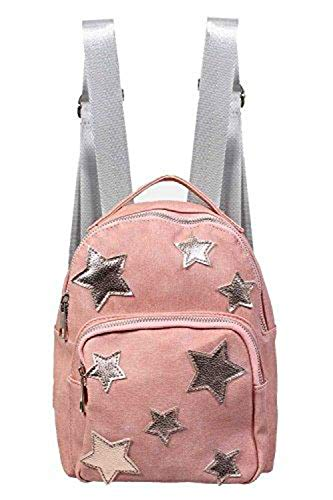 Pilot Pilot Women's Dusty Pink Faux Leather Back Pack With Silver Star Detail in Pink, size One Size