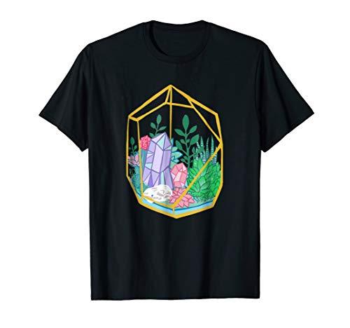 Pastel Goth Terrarium Crystals Succulents Garden Witch Tee