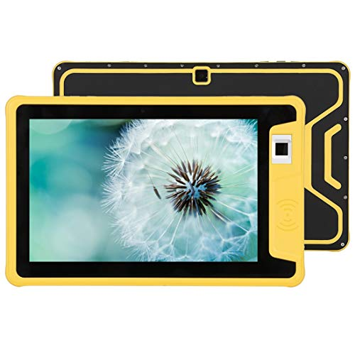 . Tablet PC W101 4G per telefonate, 10,1 pollici, 2 GB + 32 GB, IP66 impermeabile antipolvere antiurto, identificazione dell'impronta digitale, batteria 10000 mAh, Android 7.0 MT6737 Quad Core 1.0 GHz