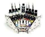 Vallejo VAL26008 - Soporte para botes de pintura (función de atril, 27 x 27 x 11 cm), color plateado