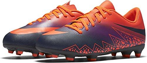 Nike Unisex-Kinder Hypervenom Phade ii fg Fußballschuhe, Mehrfarbig (Total Crimson/Obsidian-Vivid Purple), 38.5 EU