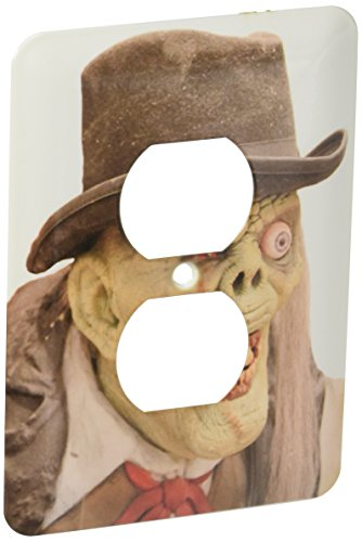 3dRose LLC lsp_156798_6 Creepy Old Man and Monster Face Costume 2 Plug Outlet Cover