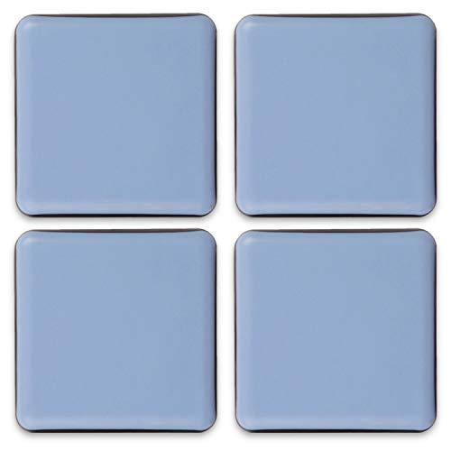 Filzada® 4x Almohadillas de Teflón para Muebles autoadhesivo - 50 x 50 mm (cuadrado) - Deslizadores profesionales de muebles/deslizadores de alfombras PTFE (Teflón)