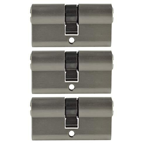 3x gleichschliessende Zylinderschlösser 60 mm PZ 30x30 inkl. 15 Schlüssel