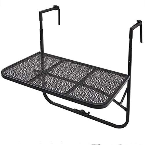 DX klaptafel vrije tijd balkon leuning Guardrail opknoping tafel metaal smeedijzer opknoping tafel opvouwbaar zand zwart