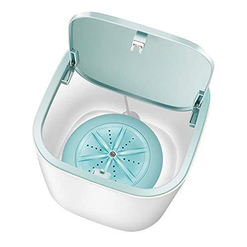 AOIWE Lave-Camping Mini Portable Tube Machine Automatique de ménage 3-5kg Wash Cleaner sous-vêtements Soins Lave-Linge for Voiture Voyage Bleu (Color : Blue)