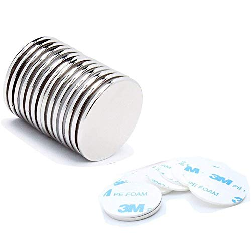 12 Stück Selbstklebende Neodym Magnete Superstarke, 32x3 mm N52 Runder Scheibe Magnet Extra Stark, Leistungsstarke Magnete mit 12...