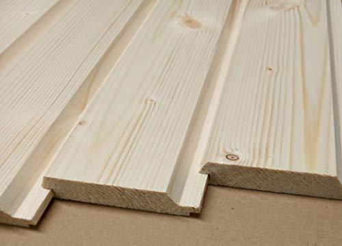 AZZAP Profilbretter Profilholz Fassadenprofil Fasebretter 20x90mm Länge:100cm Holz 30 St.