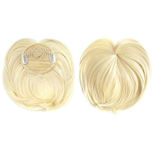 Silky Clip-On Hair Topper Wig,,Heat Resistant Fiber One Piece Silk Base Natural Invisible Wig for Women - Multicolor (19)